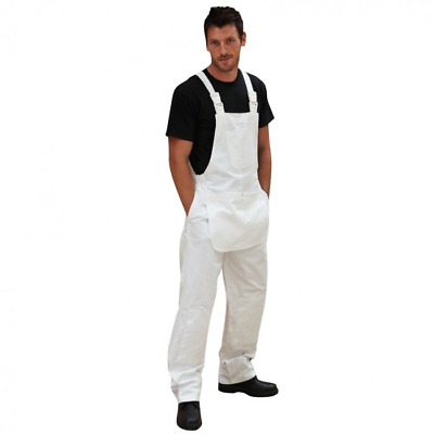 ProDec Painters Bib and Brace Overalls White - Large