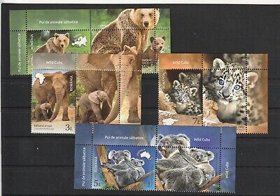 2019 Romania Stamps Animal Cubs Bear Elephant Continent Koala Labels Mnh
