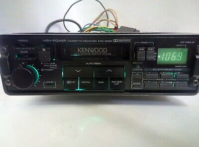 Vintage Car radio Kenwood KRC-646D high-power newtimer Japan made pull-out
