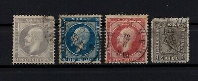 P101676/ Norvege Norway / Sg # 6 / 7 – 11 – 22 Obliteres / Used 240 €