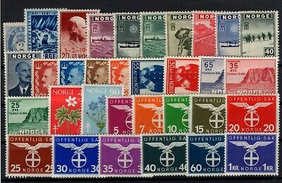 P101680/ Norvege Norway / Lot 1871 – 1960 Neufs * / Mint Mh 116 €