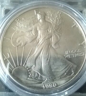 1 dollar Silver Eagle 19901oz argent