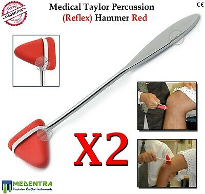 2Pc TAYLOR PERCUSSION REFLEX TENDON HAMMER NEUROLOGICAL OSTEOPATHIC NEURO CLINIC