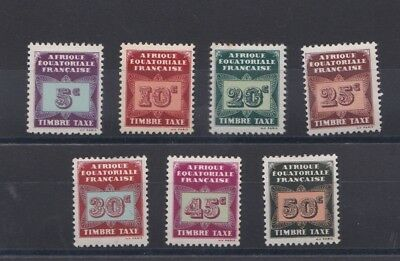 French Colonies Equatorial Africa  1937  Sg D83 - D 89 Set  M H