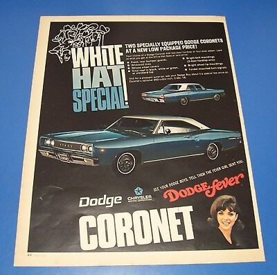 1968 Dodge Coronet 440 ~ Dodge Fever Original Print Ad ~ Muscle Car