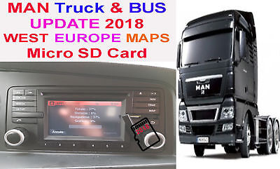 MAN Truck - Update Map 2018 - WEST EUROPE - Aggiornamento SD EUROPA Ovest 2018