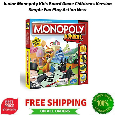 Junior Monopoly Kids Board Game Childrens Version Simple Fun Play Action New