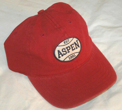 55a11397ce5 Vtg ASPEN Ski Resort BASEBALL HAT Cap 90 s Retro SNOW SKIING Colorado USA  MADE