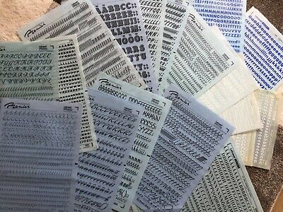 18 Sheets Letraset/letragraphica Premier Every Sheet Full Minus 1 Or 2 Letters �