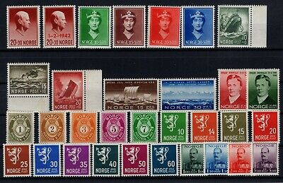 P106384/ Norvege / Norway / Lot 1937 – 1944 Mnh / Mh Complete