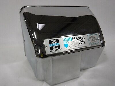 Used Nice Hand Dryer, Auto, Surface, Chrome, 110V EXCEL HO-IC-110V L2