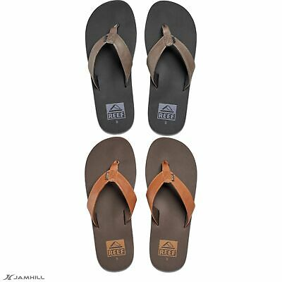 bcc030ddc578 Reef Men s Twinpin Flip Flops Vegan Leather Upper Arch Support