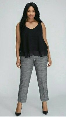 bf7f7711e7c Lane Bryant womens plus size 26 the sophie dress pants career office NWT  tweed