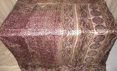 Coffee Cream Pure Silk 4 yd Vintage Sari Saree Womens Clothing Low Rate #A0D6Y