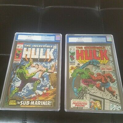 Incredible Hulk 118 & 122 CGC Battle Issues! Thing Sub-Mariner 1st gen labels