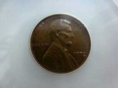 1972/72 Uncirculated Double-Die Lincoln Cent Uncirculated Red/Brown