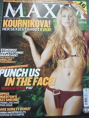 Maxim magazine September 2004 Issue 115 Anna Kournikova RARE AND COLLECTABLE