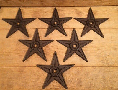 "Center Hole Cast Iron Star Anchor Plates X-Large Decor 9"" (Case of  Six) 02105"