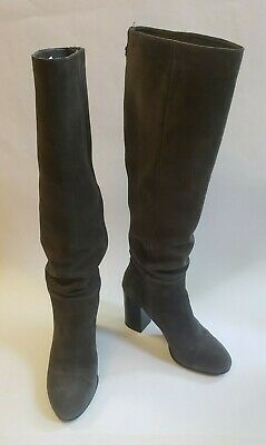 c05b430c27e8c Sam Edelman Boots Shoes Gray Heels Knee High Silas Womens Size US 7 M EUR 37