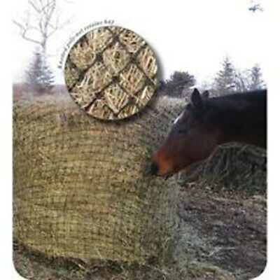 "Showman ROUND BALE HAY NET with 2""x2"" SLOW FEED Openings Fits up to 6' x 6' Bale"