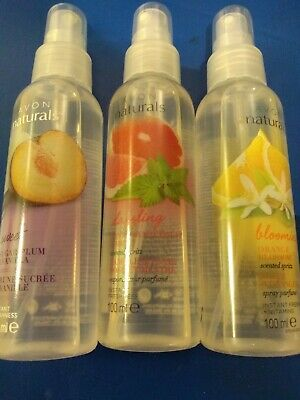 2 x Various Avon Naturals Room and Linen Scented Spritz Spray. 12 to choose from