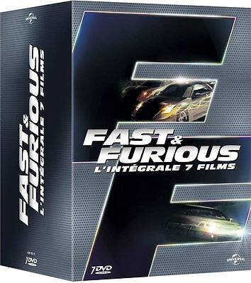 """COFFRET 7 DVD """" Fast and Furious - L'intégrale 7 films """" ( NEUF )"""