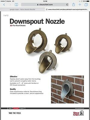 "Sioux Chief 6"" Downspout Nozzle 868-n6h I3"