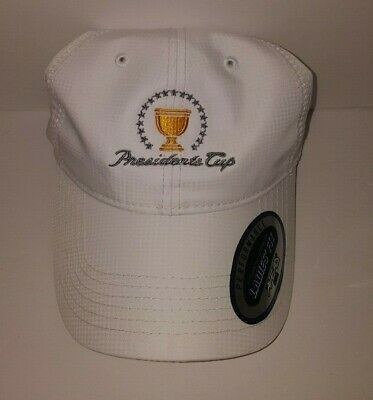 Ahead Kate Lord Collection White Ladies Fit Presidents Cup Golf Cap Hat New  NWT 2fd6b4bc6de
