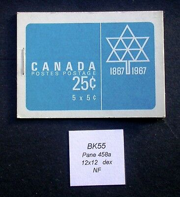 BK55 ~ Pane 458a NF~ Canada Centennial Booklet Stamps BK55