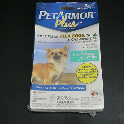 Pet Armor Plus IGR Flea Tick Lice Treatment for Dogs & Puppies 6.5-22 lbs   951