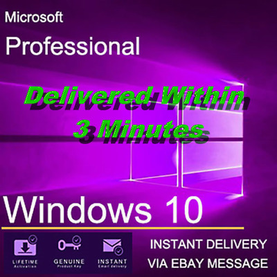 Upgrade Any Microsoft Windows to Windows 10 Pro LICENCE KEY 32/64 With Guide