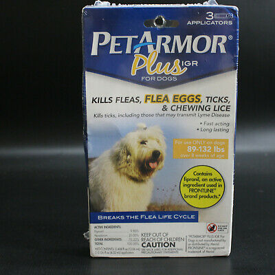 Pet Armor PetArmor Plus IGR Flea Tick Lice Treatment for Dogs 89-132 lbs     982