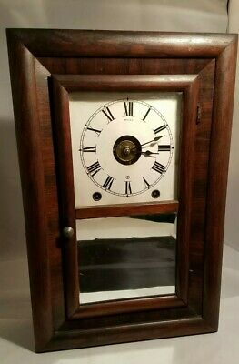 Antique Seth Thomas 8 Day Alarm Clock Key Pendulum Works