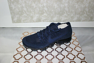 Nike Air Vapormax Flyknit AT9789-414 Neutral Tone College Navy, New Size 10