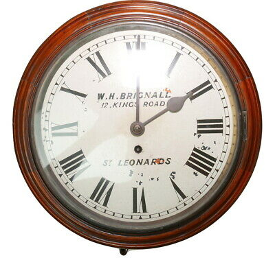 QUALITY English FUSEE DIAL CLOCK 1910 ST LEONARDS ON SEA Wall