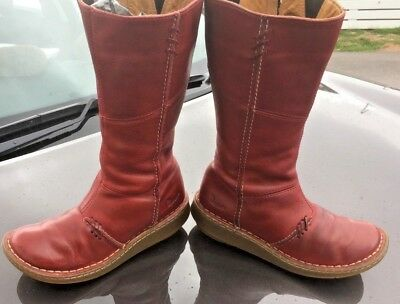 DR MARTENS NEW Auth. red grizzly bark leather 10491 boots UK