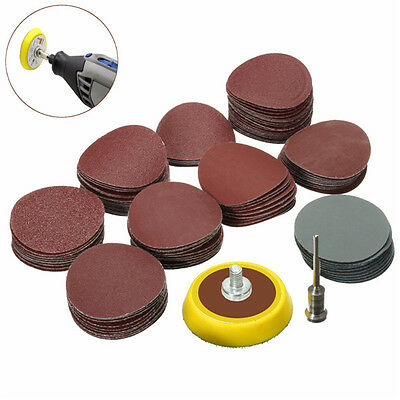 100pcs 25mm 80-5000 Grit Sanding Paper with 1/8 Inch Sanding Pad (US Stock)