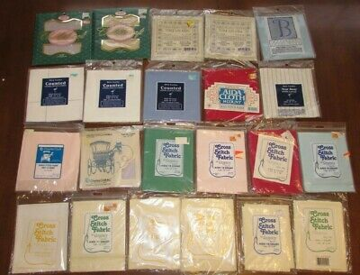 Lot Of Cross Stitching Fabric Aida Cloth-20 new and unopened! 12X18