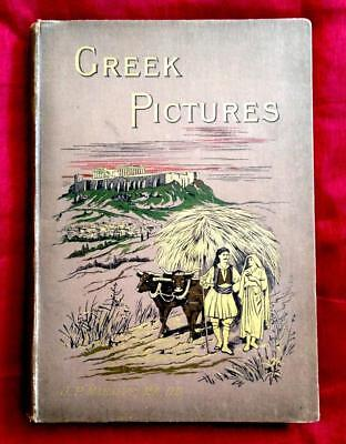 1890 Antique Greece Illustrated Greek Athens Sparta Exploration Travel