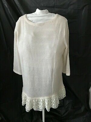 24536d26dc2 LADIES INDIGO SOUL Crochet Brown Top with a silk bottom New with ...