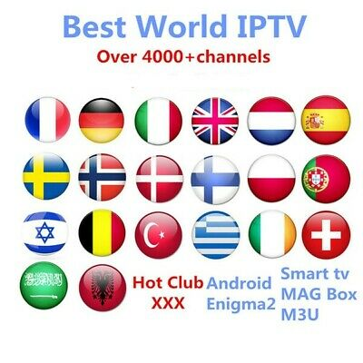 WORLD IPTV subscription 5000 HD ARABIC USA CANADA INDIAN FRENCH Europe Latino