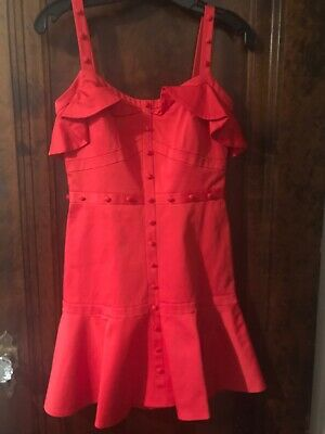4a9a90c44c8 NWT ALEXIS SIZE XS  Aliana  Off the Shoulder Red Dress Ruffle ...