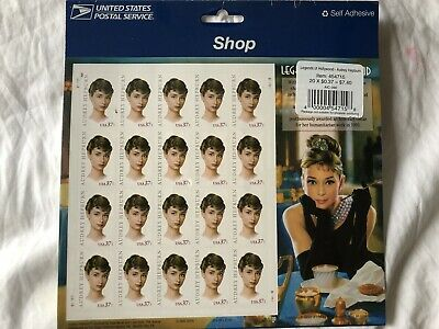 Audrey Hepburn Stamps From The Legends Of Hollywood Series.