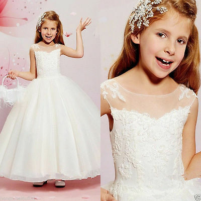 Flower Girl Dress Party Prom Princess Pageant Bridesmaid Wedding*
