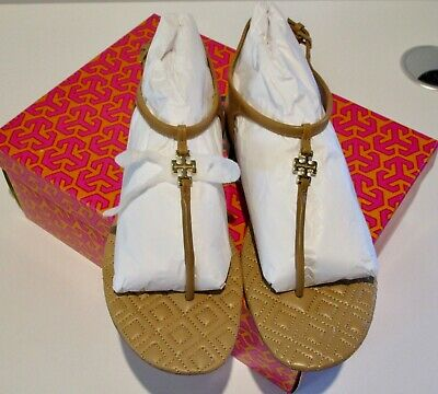 6d4885993ef6ab NIB TORY BURCH MARION Sandals Sz 7.5 Sand Tan Quilted Vegan leather Sandal