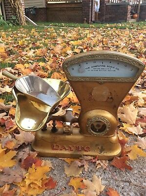 1906 General Store  Display 2lb Dayton Penny Candy Counter Advertising Scale