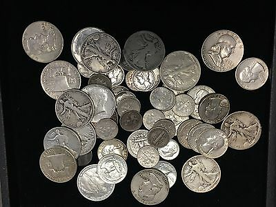 1/2 TROY POUND LB BAG 90% SILVER COINS U.S. MINTED NO JUNK PRE-65, Free Shipping