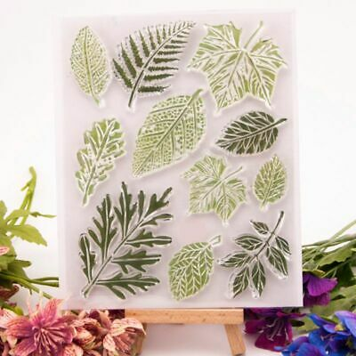Leaf Silicone Clear Seal Stamp DIY Scrapbooking Embossing Album Paper Card Craft