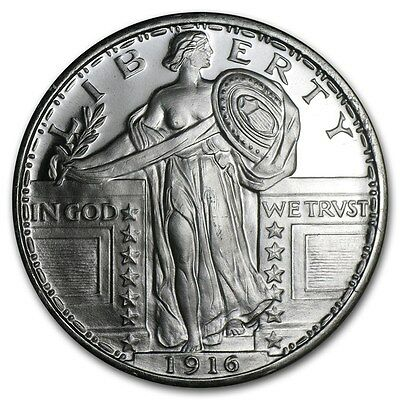 1~Oz ~ Pure .999 Silver Round ~Standing Liberty Quarter~ $9.99  Auction ~ No Res