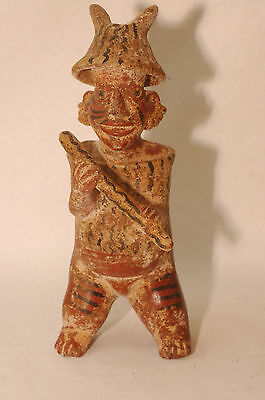 "Pre-Columbian Mayan Jalisco Figure of a Warrior 10.5."" 300AD CAA-244"